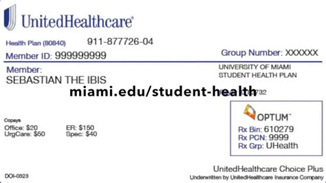 insurance card uhc insurance cards