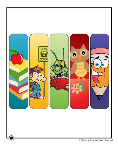 printable school bookmarks pin by alison guillermo on shiz for the shorties pinterest