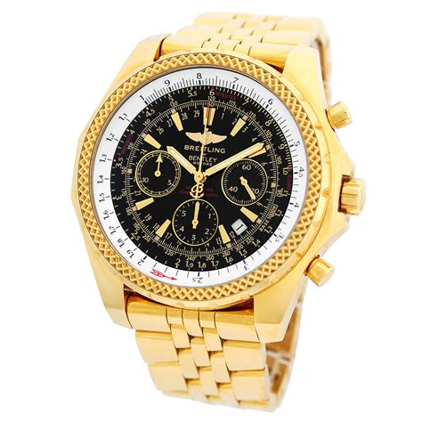 breitling bentley breitling 18k yellow gold 48mm bentley motors chronograph