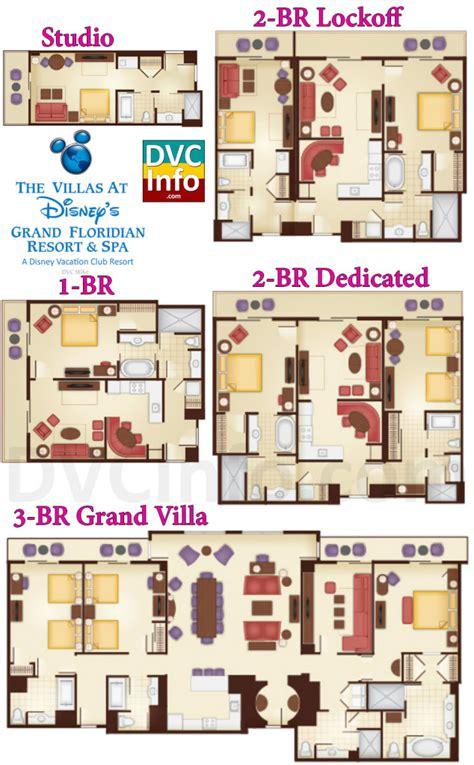 floridian floor plan the villas at disney s grand floridian resort spa