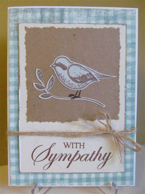 Handmade Sympathy Cards - savvy handmade cards bird sympathy card