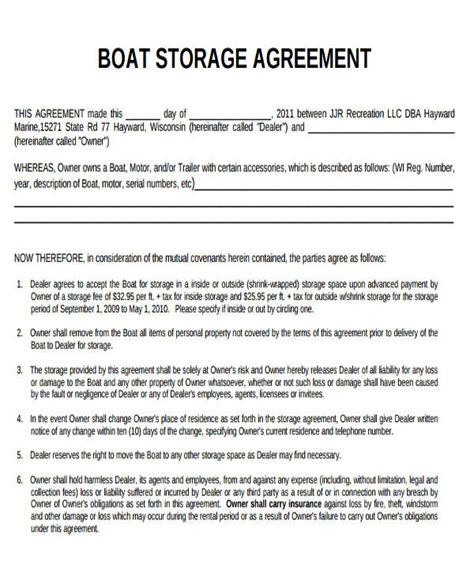 15 self storage rental agreement template free