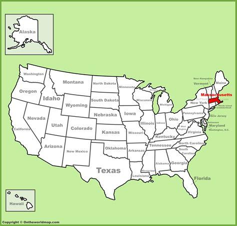 map usa massachusett massachusetts location on the u s map