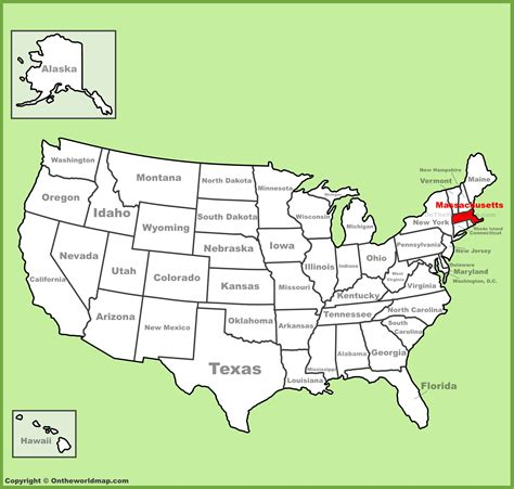 america map massachusetts massachusetts location on the u s map