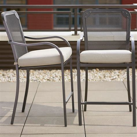 hton bay outdoor bar stools hton bay vernon hills high patio dining chair with back