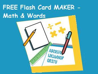 flash card maker by studyx free math word flash card maker math words and math