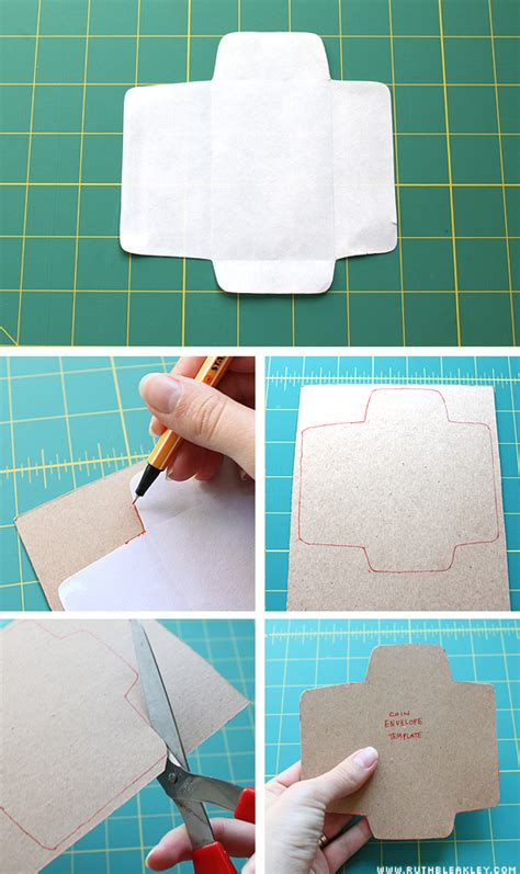 How To Make Small Paper Envelopes - tutorial easy tiny envelopes poppytalk