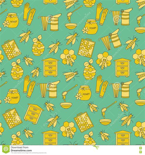 honey pattern vector honey vector seamless pattern stock vector image 73845571