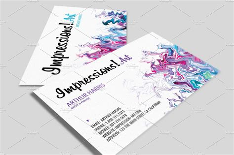 artist business cards templates artistic business card v 2 business card templates