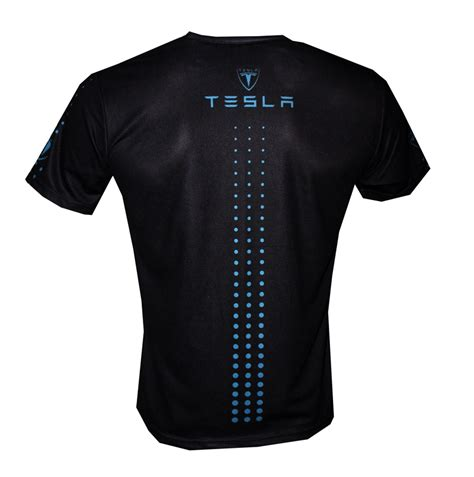 tesla t shirt with logo and all printed picture t