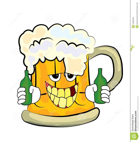 cartoon beer drinking beer cartoon stock illustration illustration of