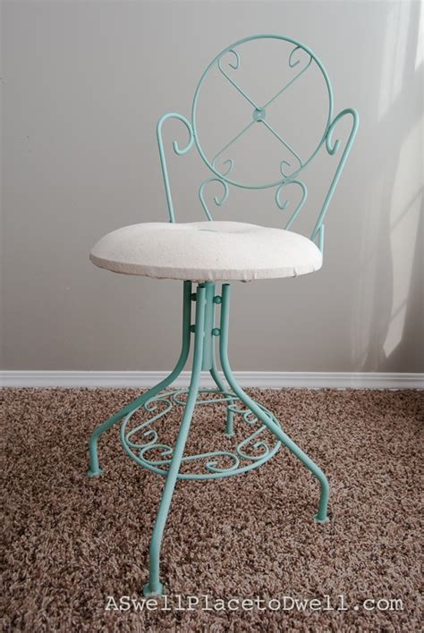 Teal Vanity Chair Pin By Brown On Furniture Projects
