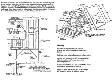treehouse floor plans free tree house floor plans