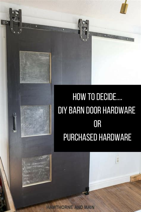 How To Build Barn Door Hardware How To Decide Diy Barn Door Hardware Or Purchase Hardware Hawthorne And