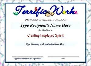 employee recognition certificate templates free templates forms 2015