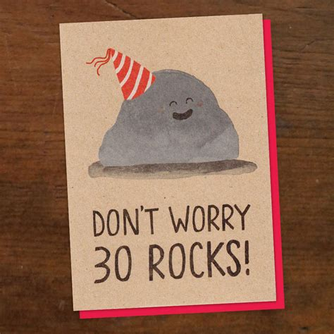 30 Birthday Cards 30 Rocks Birthday Card By Stormy Knight