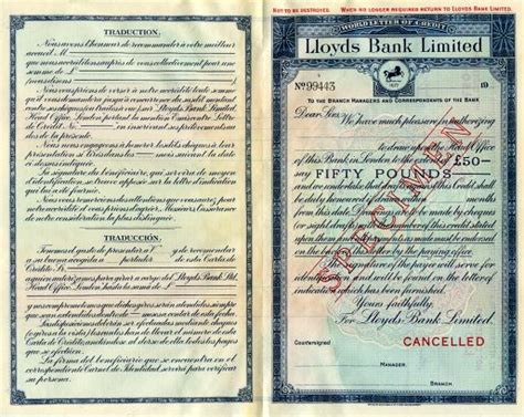 Lloyds Bank Letter Of Credit Lloyd S Bank Limited World Letter Of Credit Specimen