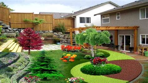 Landscaping Ideas For Small Yards With Slopes Garden Post Landscape Ideas For Small Backyard