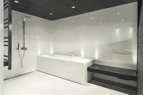 Bathroom House Design Grey White House Design With A Contemporary Black And White Palette