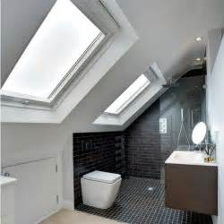 small loft bathroom open