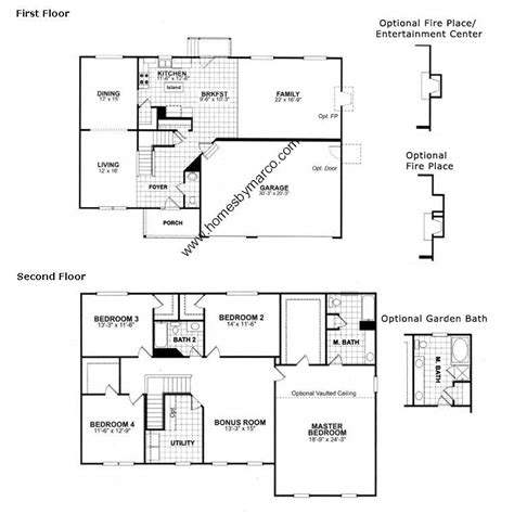 inspirational homes by marco floor plans new home plans