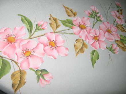 cenefas de flores para pintar en tela cortinas pintadas en tela imagui