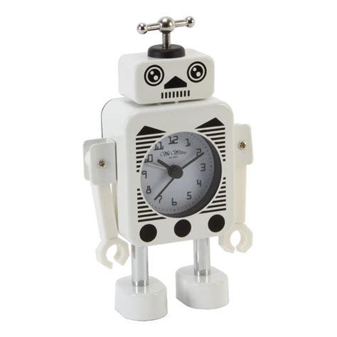 alarm clock wm widdop robot alert white alarm clocks