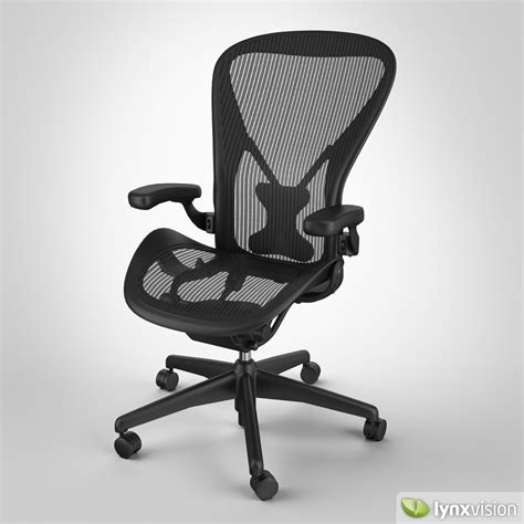 herman miller aeron posturefit desk chair aeron chair by herman miller 3d model max obj fbx