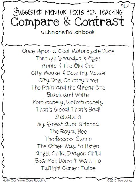 compare and contrast picture books 1000 images about education on 2nd grades