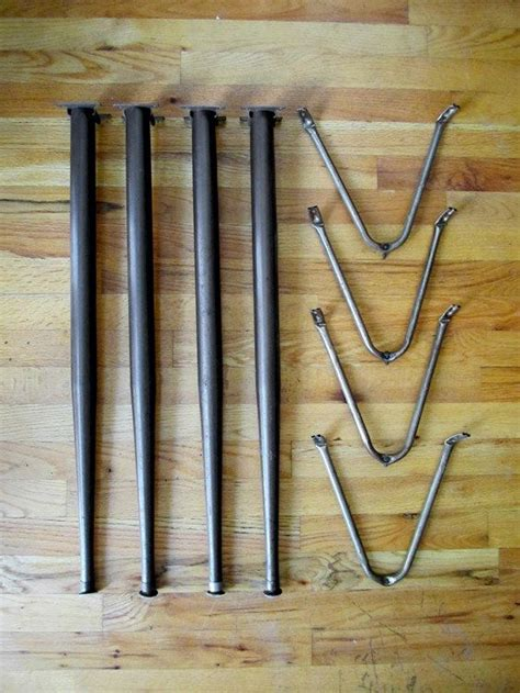 vintage sofa legs vintage mid century tapered metal table legs hardware