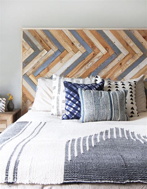187 my diy herringbone wood headboard