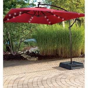 Big Lots Patio Umbrella Wilson Fisher 174 Solar Offset 11 X 8 Umbrella With Base