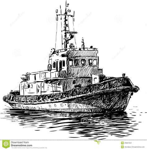 traditional boat drawing coast guard boat royalty free stock photography image