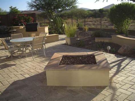 large square pit square pit desert landscaping ideas
