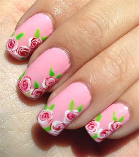imagenes uñas blancas decoradas facil dise 241 o de u 241 as con rosas blancas y rojas youtube