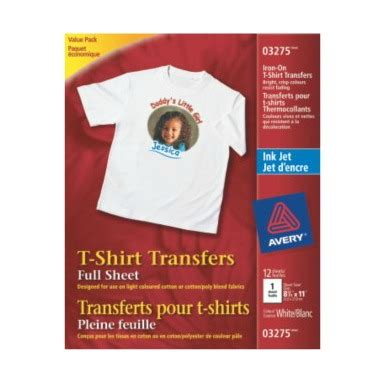 avery iron on transfers reviews buy avery light t shirt transfers for inkjet printers at