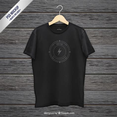 New Black Kaos Hd black t shirt mockup psd file free