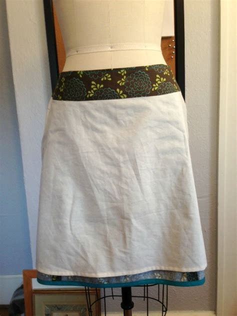 make a lining for an a line skirt easier than