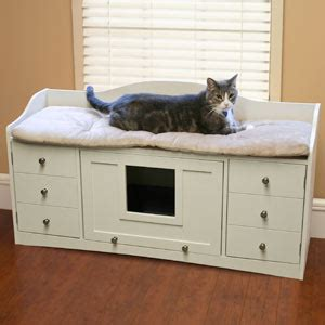 savvy housekeeping cat bench  litter cabinet