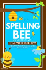 spelling cards template customizable design templates for spelling bee contest