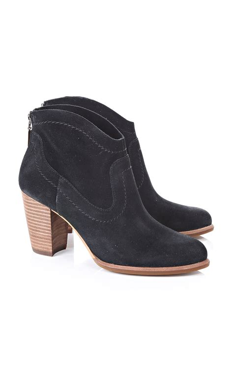 ugg australia black suede ankle boots blueberries