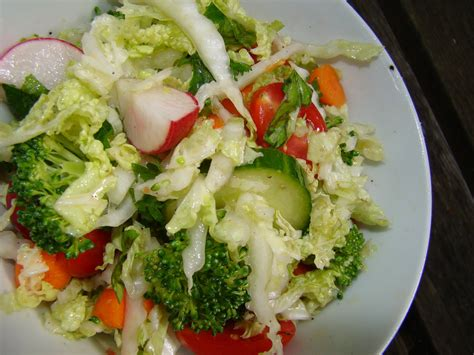 Napa Salad by Raw Vegetable Salad With Lime Dressing Patty S Food
