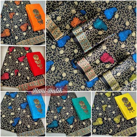 Kain Embos Dn Kain Batik mcp ak sbe 0196 set kain batik prada emas dan kain embos