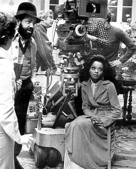 On Set For Grindhouse And Director by Director Berry Gordy Chats With His Crew On The Set