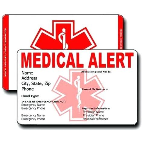 alert card template alert card template printable emergency home