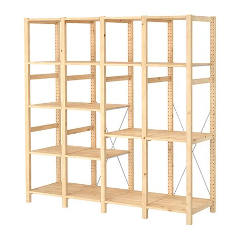 pine shelving units ivar 4 section shelving unit pine solid pine shelves