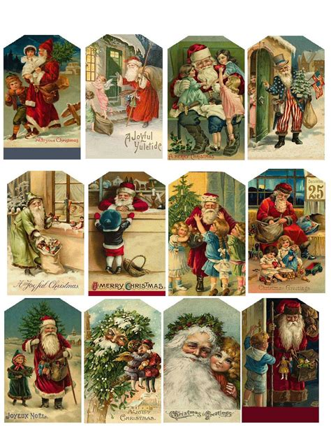 printable vintage images pinterest cute for vintage christmas tags you can use old christmas