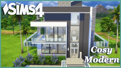 the sims 4 house building modern spring speed build the sims 4 cosy modern house build youtube