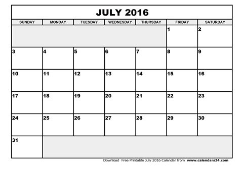 Advertising Calendar Template 2016