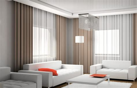 modern draperies curtains for a living room in modern style interior